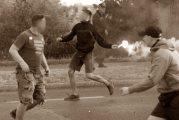 Tuča Grobara i Delija na Dorćolu (VIDEO)